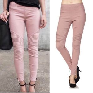 Pants - Moto Jeggings in Mauve